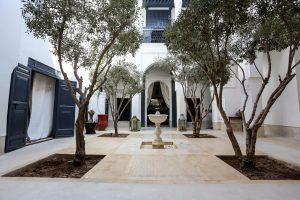 luxury riads for sale marrakech - a typical luxury riad courtyard - bosworthpropertymarrakech.com