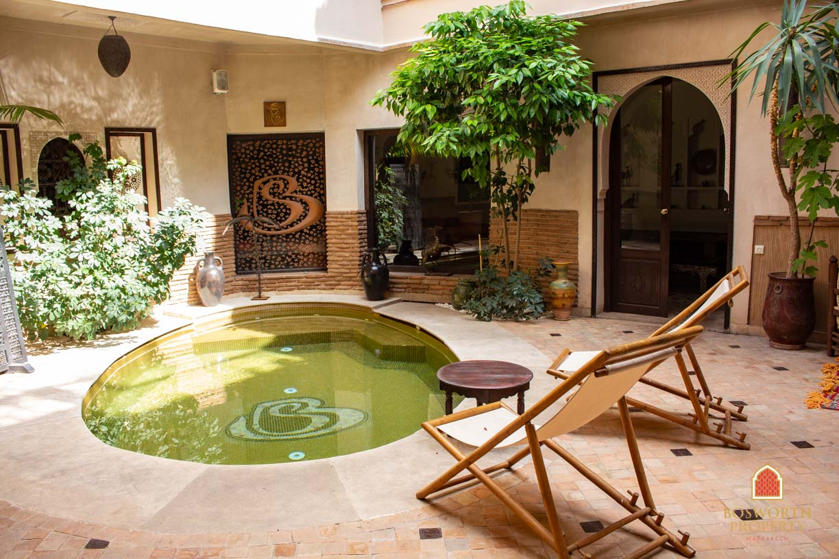 Riads For Sale Marrakech -Stunning Guesthouse Riad For Sale Marrakech - Marrakesh Realty - Marrakech Real Estate - Immobilier Marrakech - Riads a Vendre Marrakech