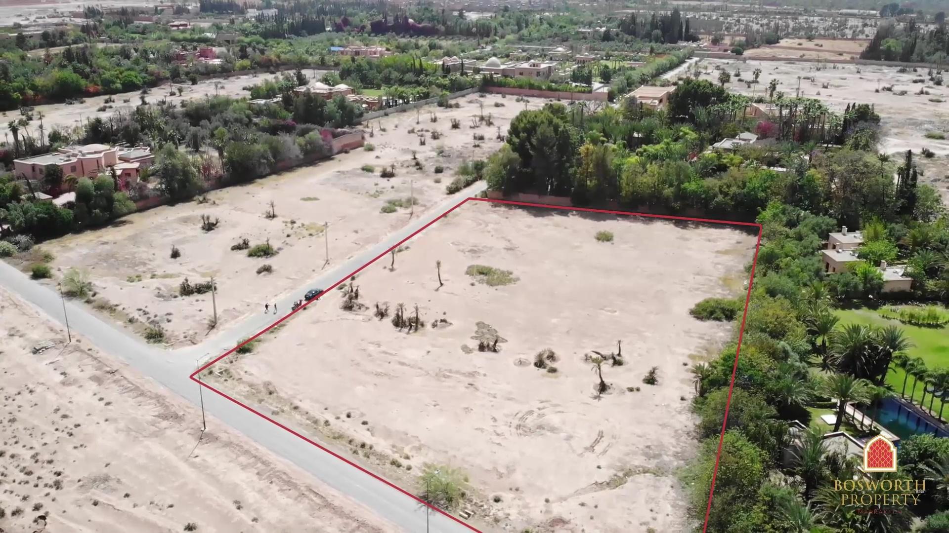 Land For Sale Marrakech Palmeraie 1ha - Marrakech Real Estate - Marrakesh Realty - Terrain a Vendre Marrakech Palmeraie - immobilier marrakech